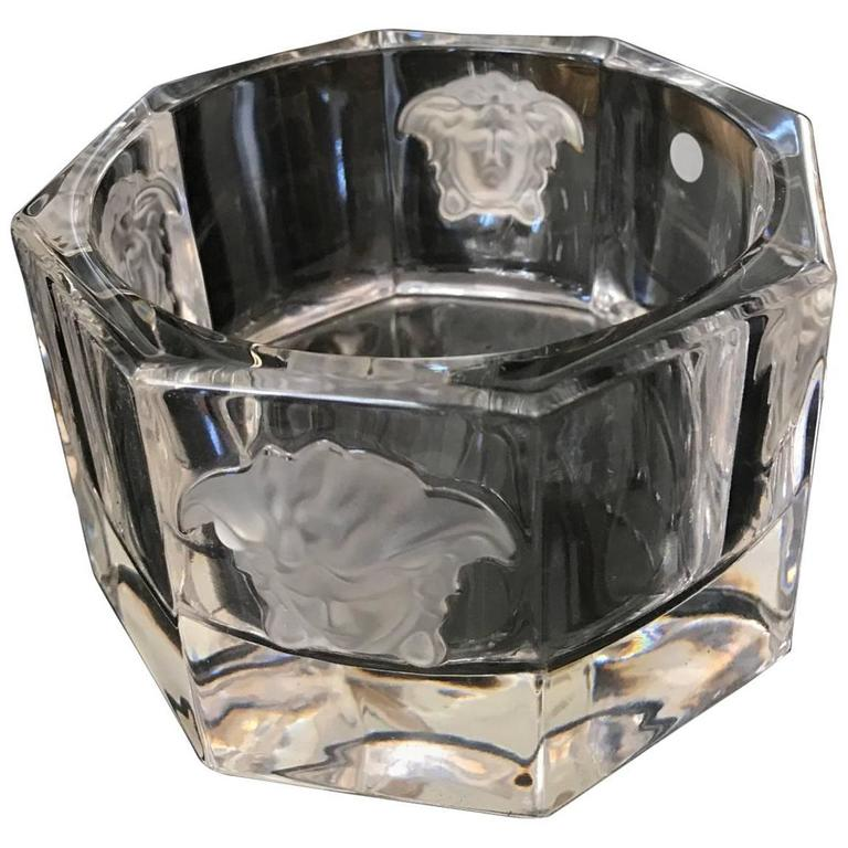 Versace Medusa Lumiere Crystal Bottle Coaster Rosenthal At 1stdibs