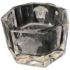 Versace Medusa Lumiere Crystal Bottle Coaster Rosenthal