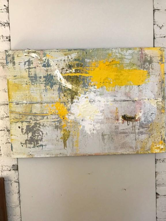 A modern dynamic multicolored painting in heavily textured oils by Chicago artist Jay Miller. This powerful work would complement well a modern or Classic interior.
