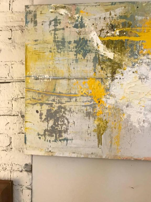 Abstract Oil Painting In Good Condition For Sale In Chicago, IL