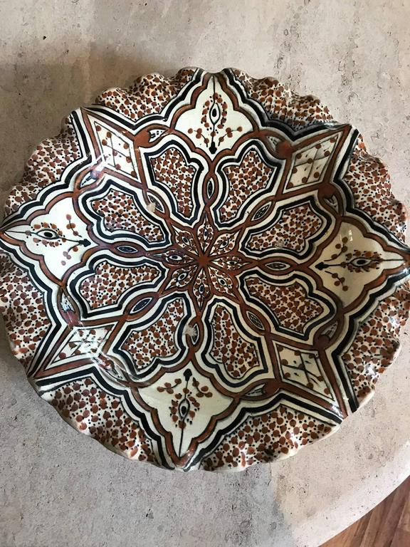 arabic hair styles moroccan ceramic charger or bowl for at 1stdibs 8488