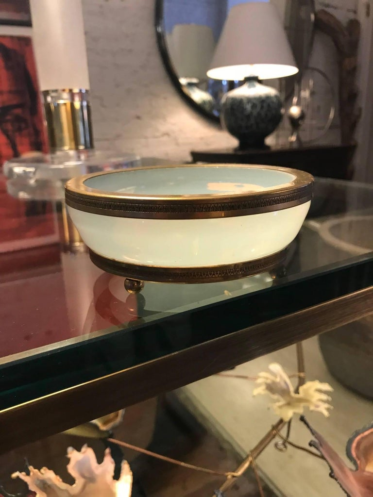 Charles X 19th Century French Opaline Glass Bowl Vide Poche Catchall For Sale