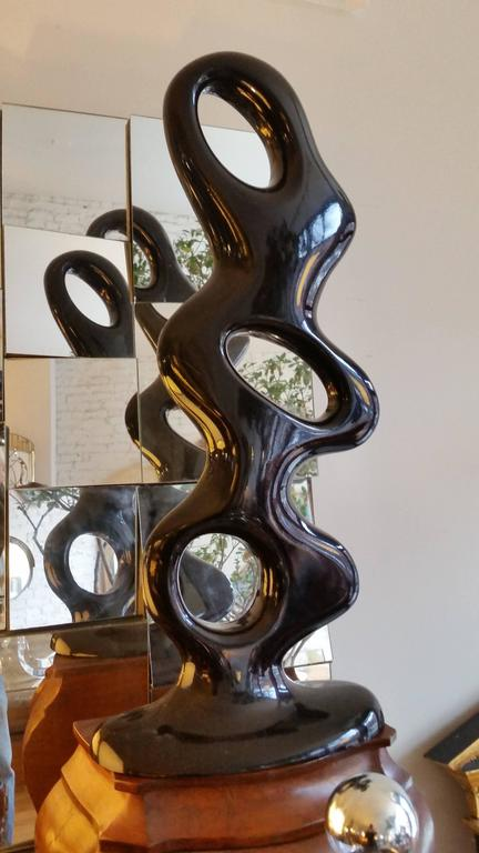 Abstract Aluminum Biomorphic Sculpture For Sale 1
