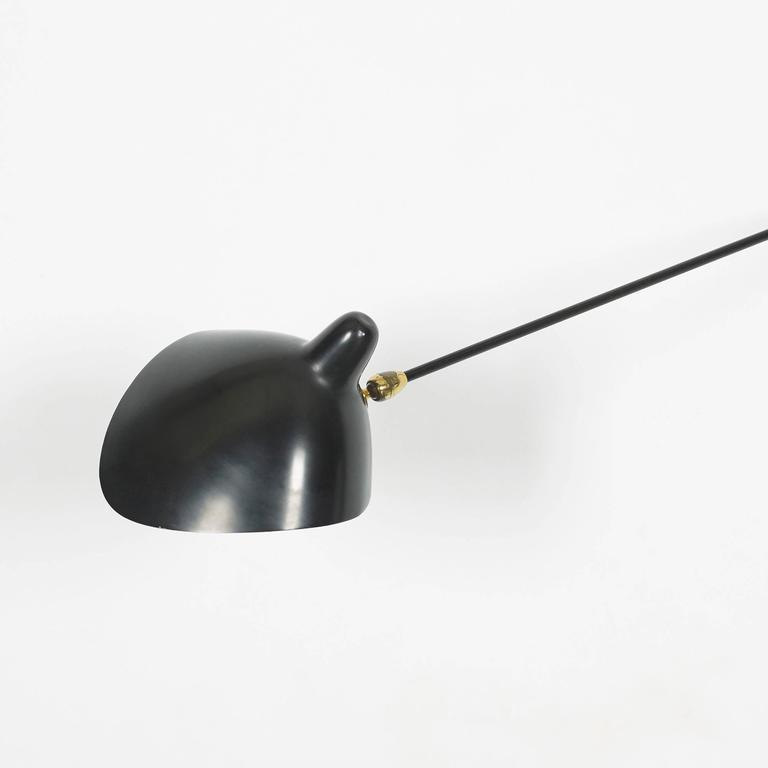 applique simple deux bras by serge mouille for ateliers. Black Bedroom Furniture Sets. Home Design Ideas