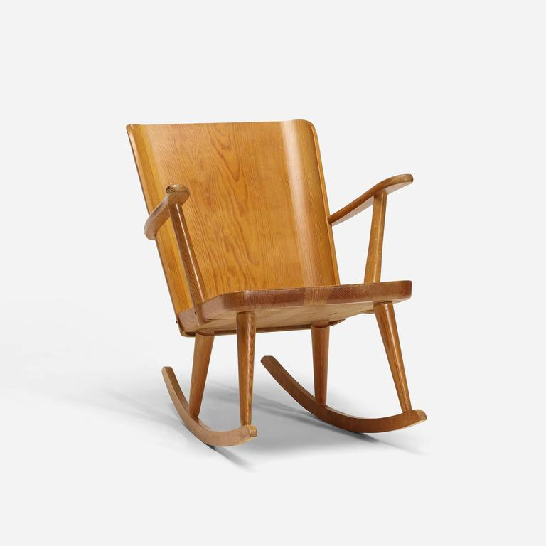 Pine Rocking Chair by Carl Malmsten For Sale at 1stdibs