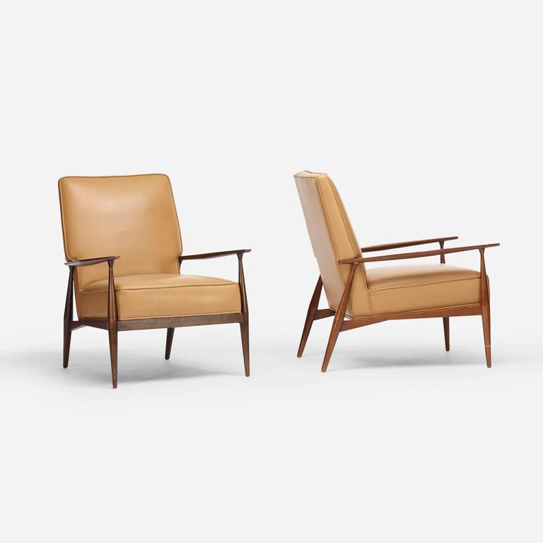 Planner Group Lounge Chairs, Pair By Paul McCobb For Winchendon Furniture  Co. 2