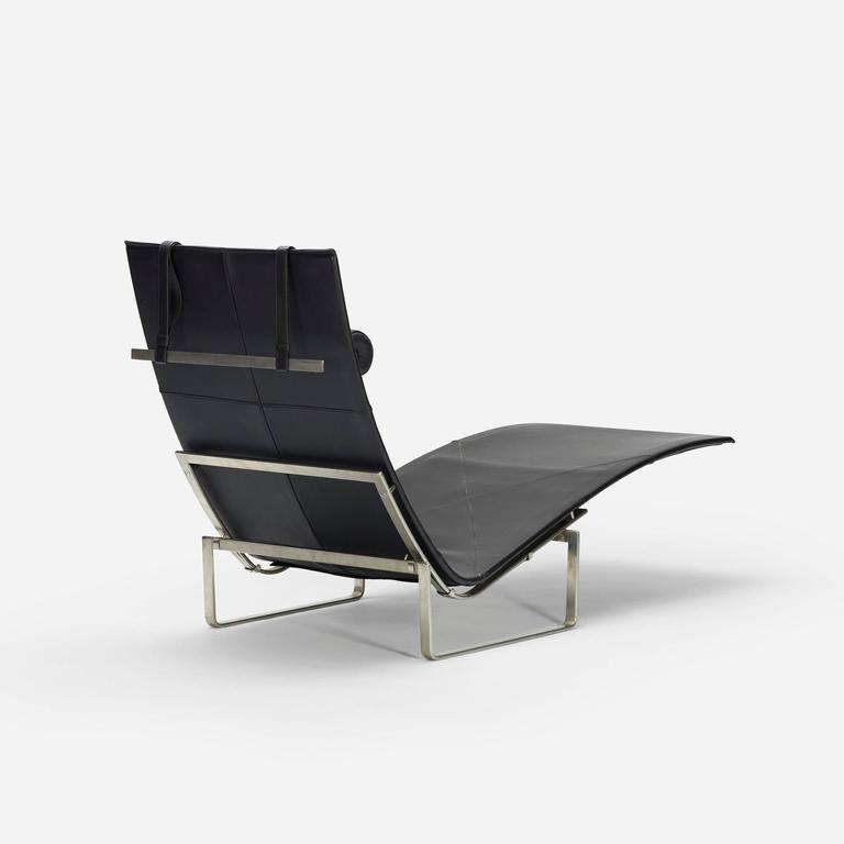 Chaise longue model pk24 by poul kjaerholm for fritz for Chaise longue manufacturers