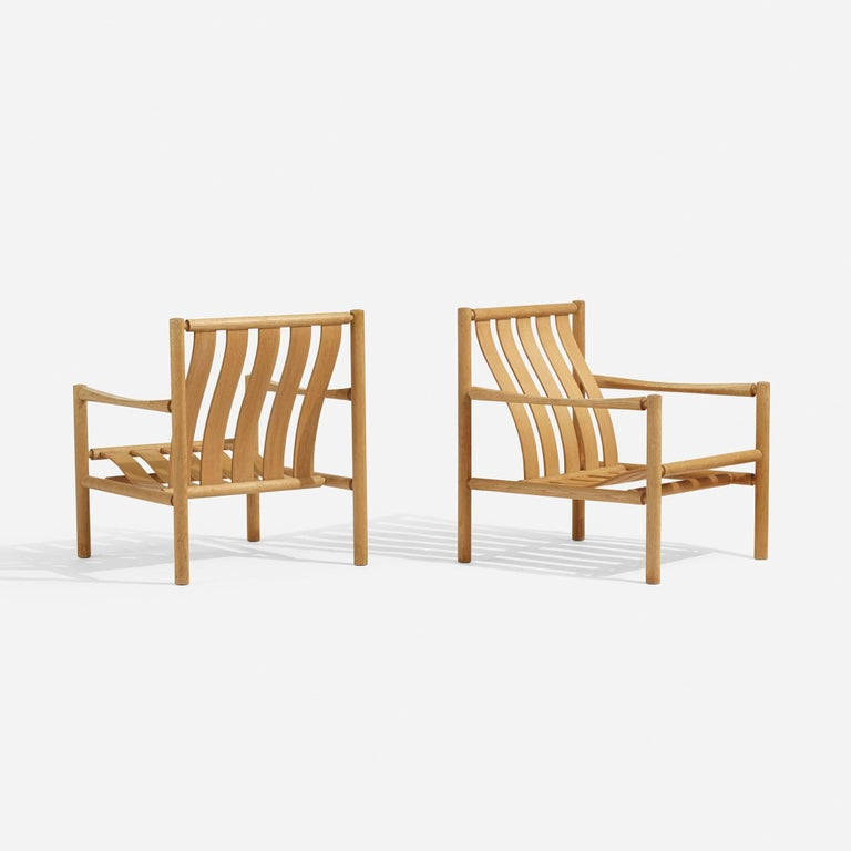 Scandinavian Modern Pair of Lounge Chairs by Jorgen Nilsson for J.H. Johansens Eftf For Sale