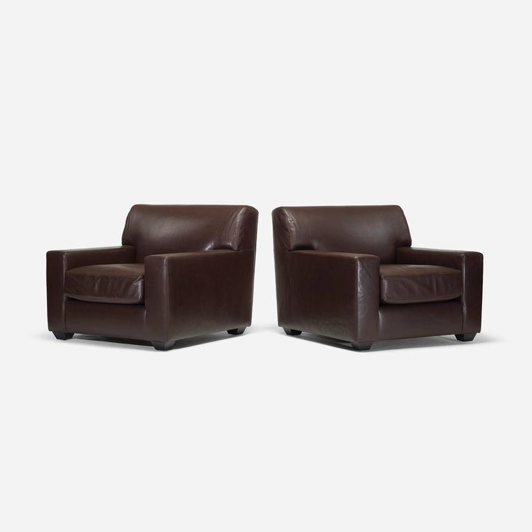 American Lounge Chairs, Pair By Christian Liaigre For Holly Hunt For Sale