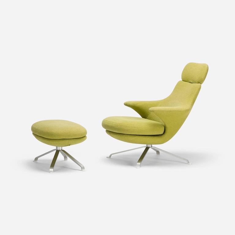 Radar Lounge Chairs And Ottoman By James Irvine For B And