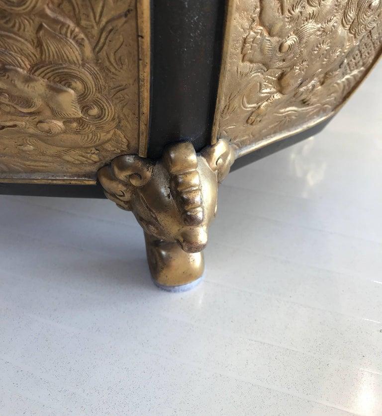 20th Century Fabulous Bronze and Gilt Jardinière For Sale