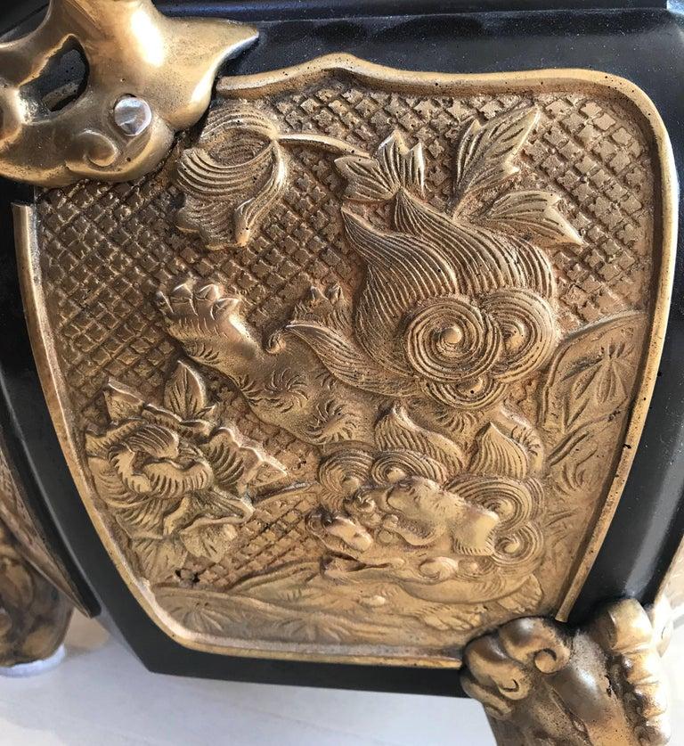 Metal Fabulous Bronze and Gilt Jardinière For Sale