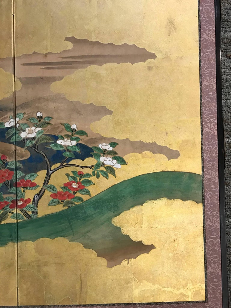 20th Century Gold Leaf Japanese Screen For Sale