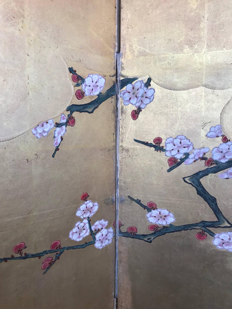 19th Century Japanese Gold Leaf Screen For Sale