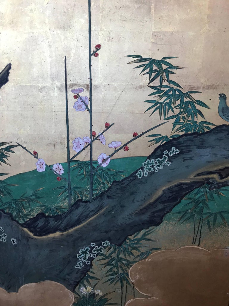 Japanese Gold Leaf Screen For Sale 1