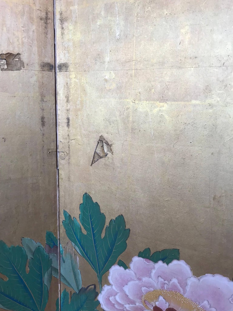 Japanese Gold Leaf Screen For Sale 2