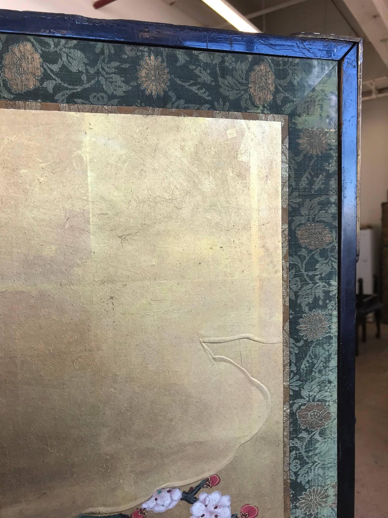 Japanese Gold Leaf Screen For Sale 3