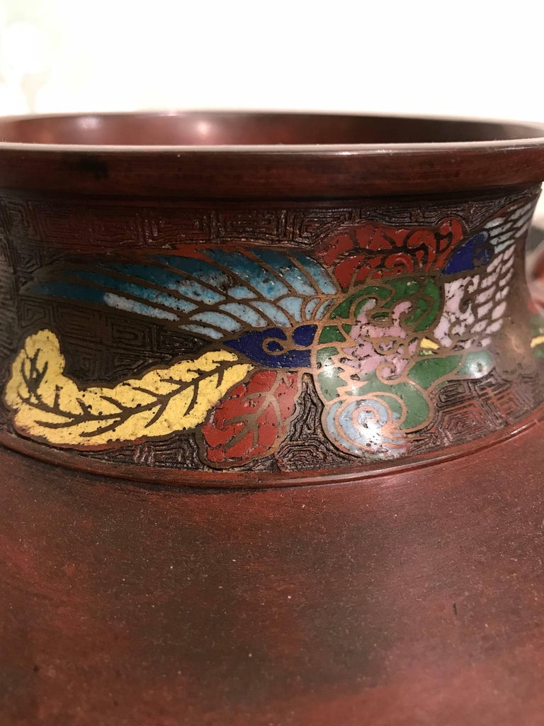 20th Century Pair of Japanese Art Nouveau Style Vases For Sale