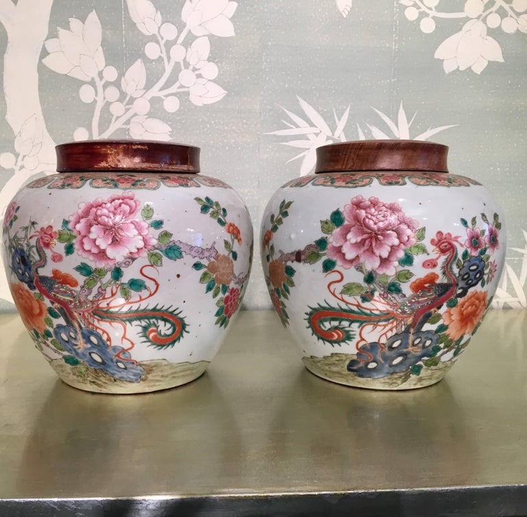 Pair of 19th Century Chinese Ginger Jars For Sale 2
