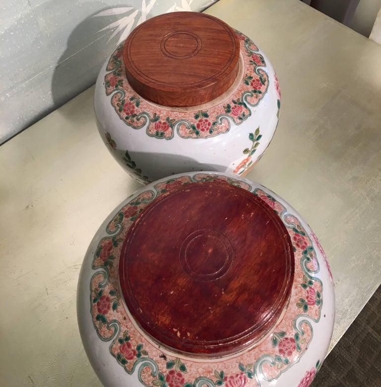 Pair of 19th Century Chinese Ginger Jars For Sale 3