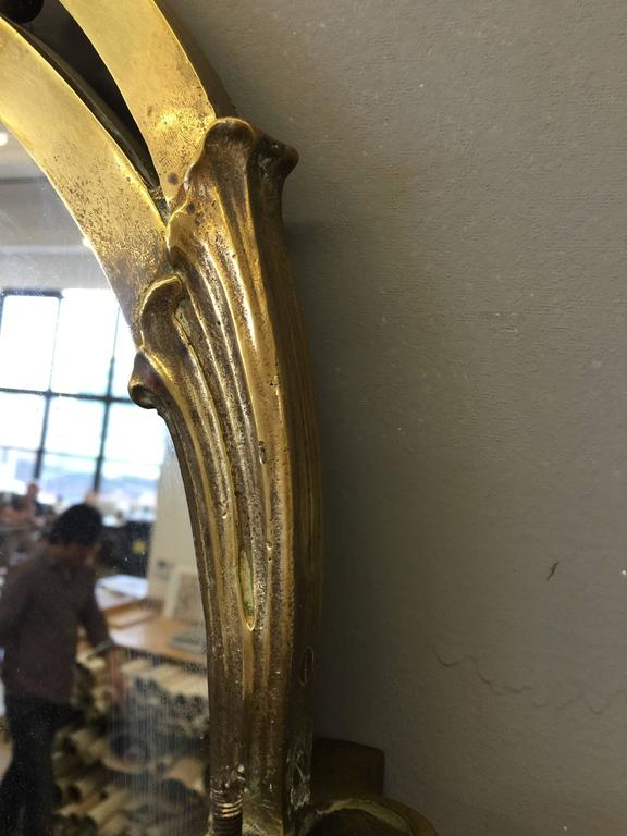 Monumental French Art Nouveau Three Part Mirror In Excellent Condition For Sale In New York, NY