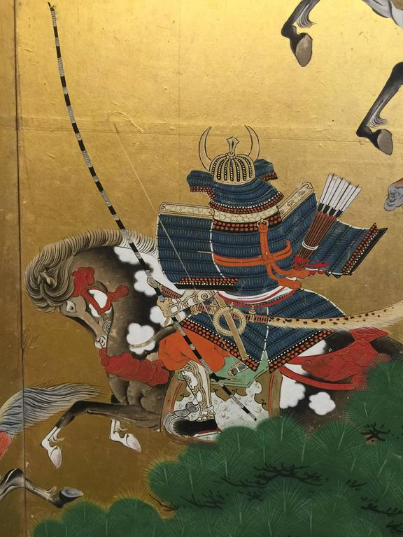 18th Century Japanese Battle Screen For Sale 2