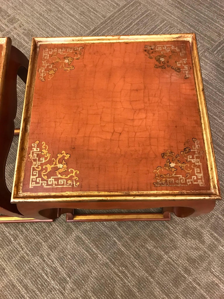 Unknown Pair of Chinoiserie Side Tables For Sale