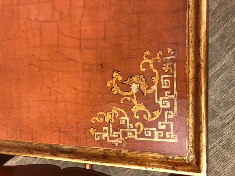Late 20th Century Pair of Chinoiserie Side Tables For Sale