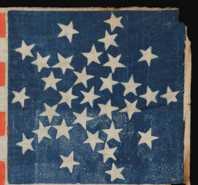 American 31 Stars Arranged in a Rare Variation of the