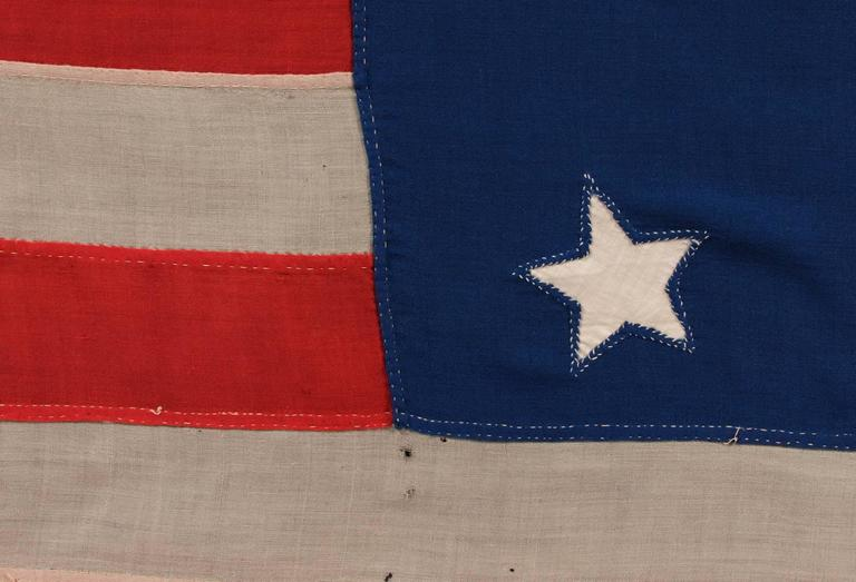 Entirely Hand-Sewn Antique American Flag with 16 Stars, Tennessee Statehood For Sale 5