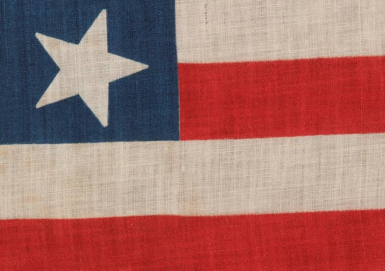 13 Star Parade Flag, Unusually Large Among Its Known Counterparts 4