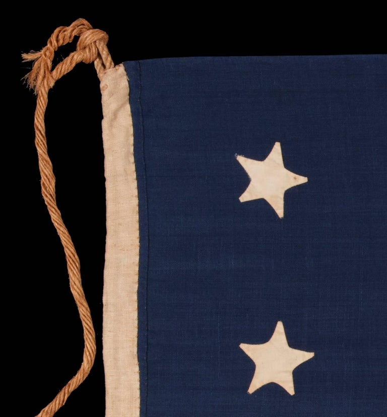 19th Century Entirely Hand-Sewn, 13 Star, U.S Navy Small Boat Ensign Flag For Sale