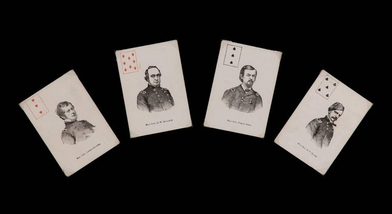 Exceptionally Rare Complete Deck of Civil War Period Patriotic Playing Cards In Good Condition For Sale In York County, PA