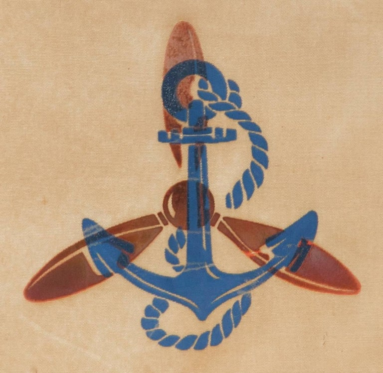 American Serving in the Waves, an Extremely Rare WWII Service Banner For Sale