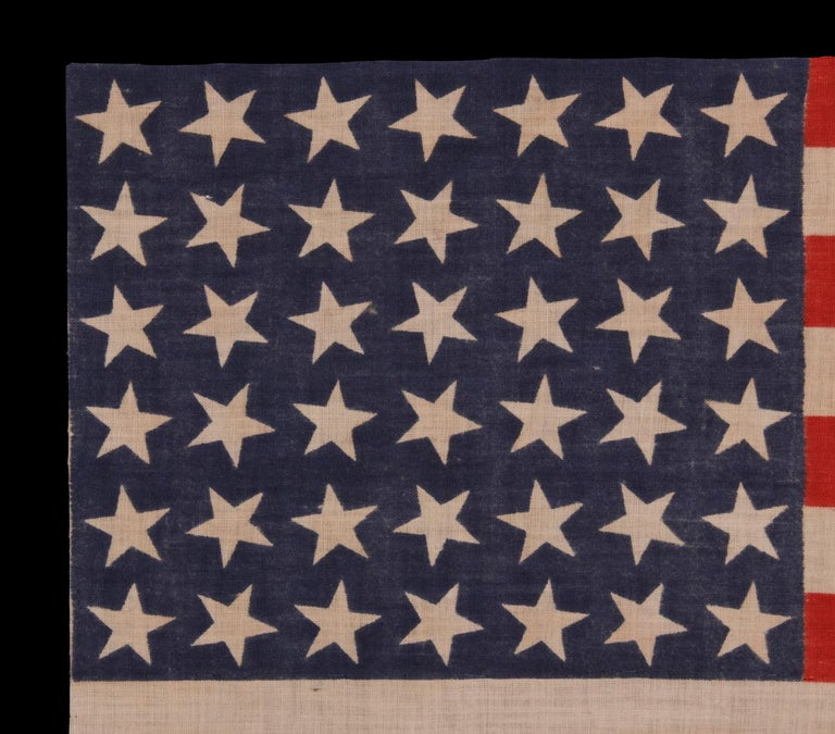42 Stars, an Unofficial Star Count, on an Antique American Flag In Good Condition For Sale In York County, PA