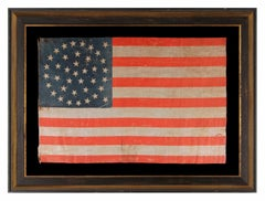 38 Stars in a Medallion Configuration, on a Large Scale Antique American Flag