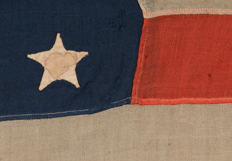 19th Century 38 Hand-Sewn Stars In A