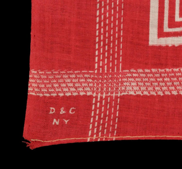 Early 20th Century Roosevelt Battle Flag Kerchief, Made for the 1912 Presidential Campaign For Sale
