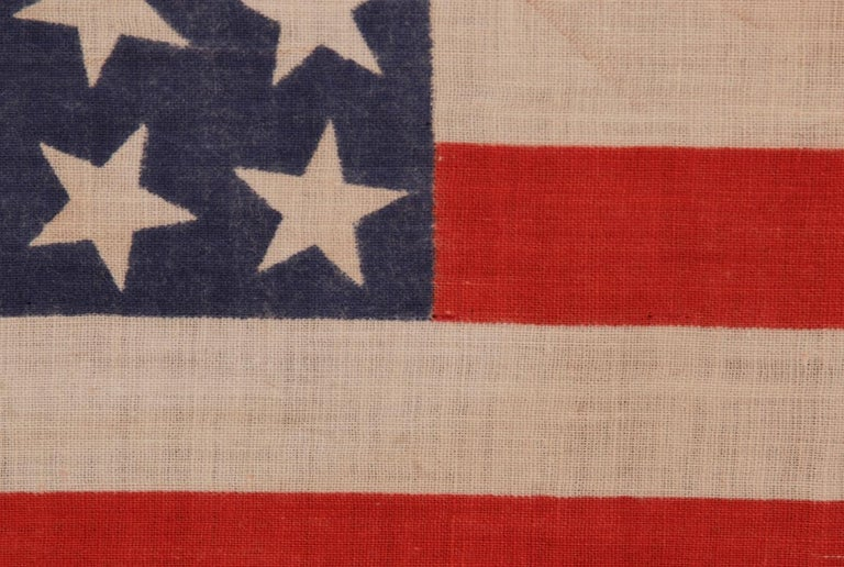 Late 19th Century 42 Stars, an Unofficial Star Count, on an Antique American Flag For Sale
