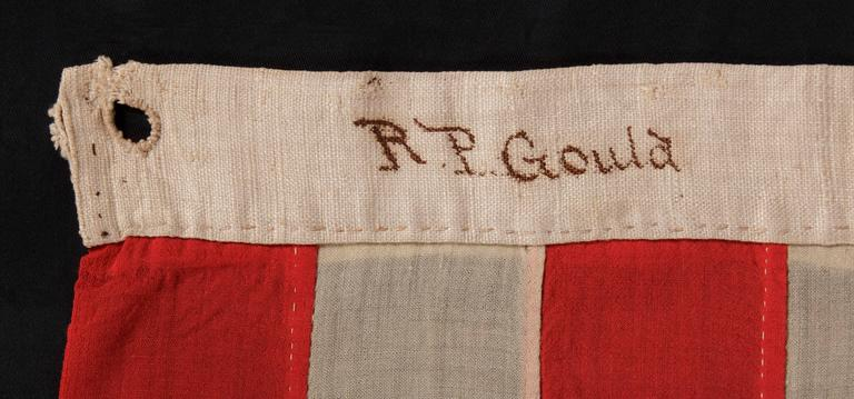 Entirely Hand-Sewn Antique American Flag with 16 Stars, Tennessee Statehood For Sale 1