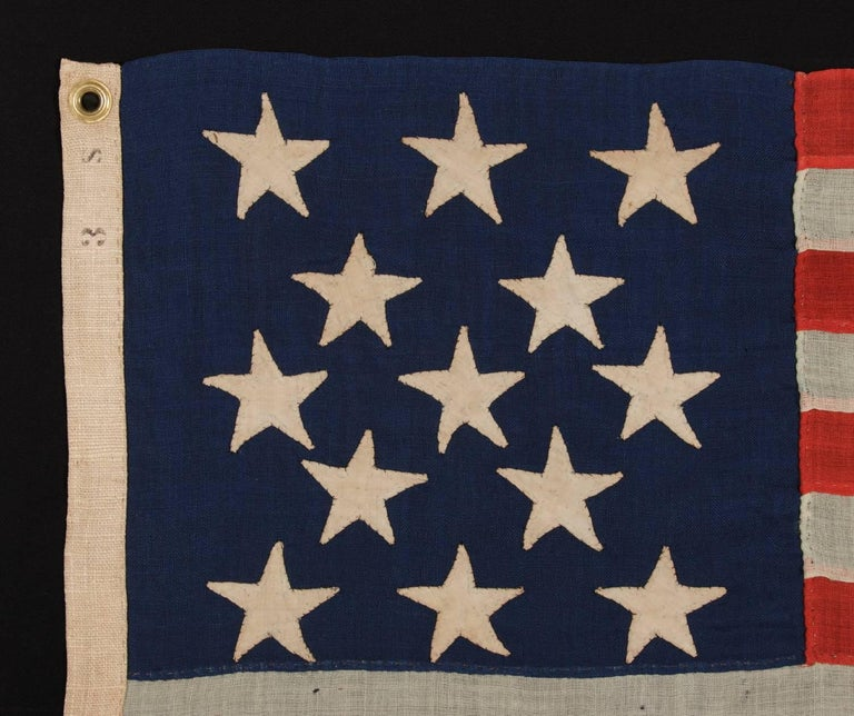 Entirely hand sewn antique american flag of the 1861 1876 era with entirely hand sewn antique american flag of the 1861 1876 era with 13 stars publicscrutiny Image collections