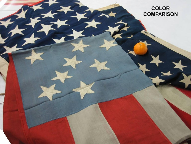 38 Stars in a Starburst Cross on an Antique American Flag, Colorado Statehood For Sale 3
