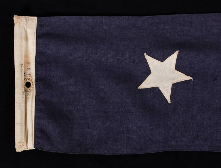 American U.S Navy Commission Homeward Bound Pennant with 14 Stars, Made by El Rowe & Sons For Sale