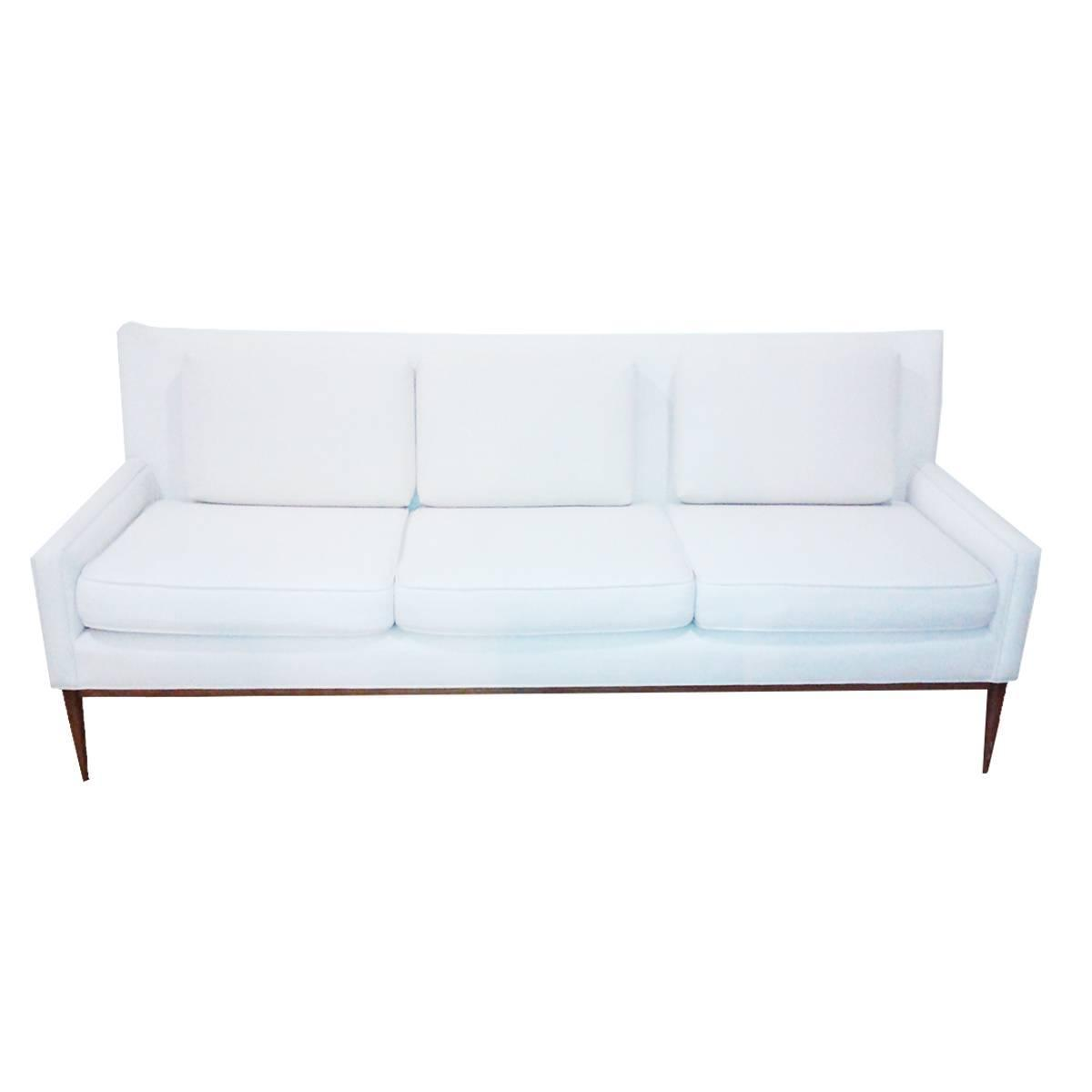 White Mid Century Modern Sofa For Sale At 1stdibs
