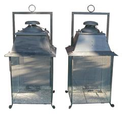 Pair of Metal Lanterns