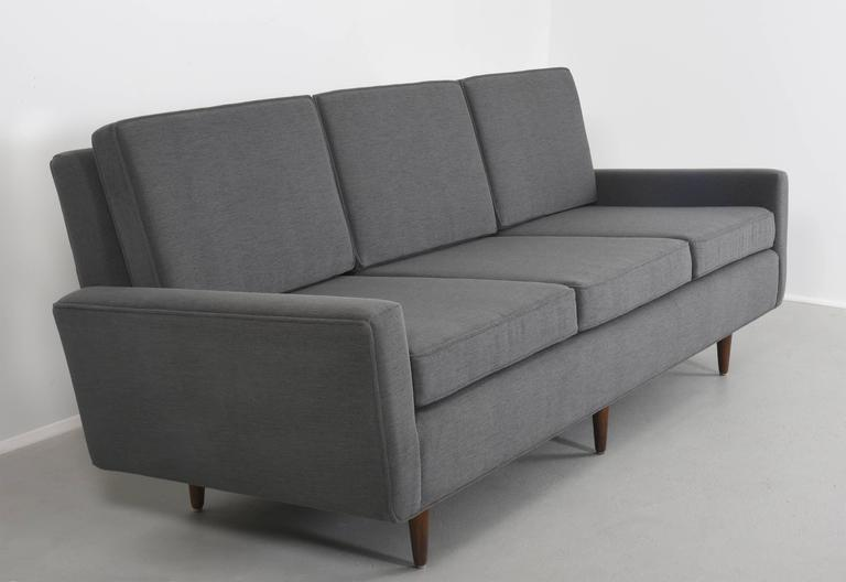 Florence Knoll Sofa Three Seat Sofa With Birch Base, Model 26, 1947.