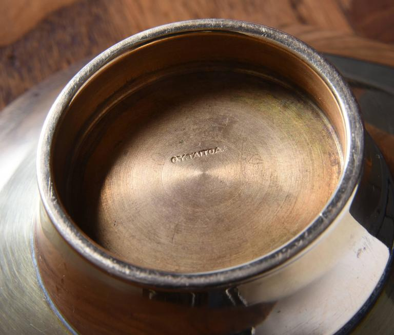 Paavo Tynell Brass Bowl, Taito Oy, 1940s 7