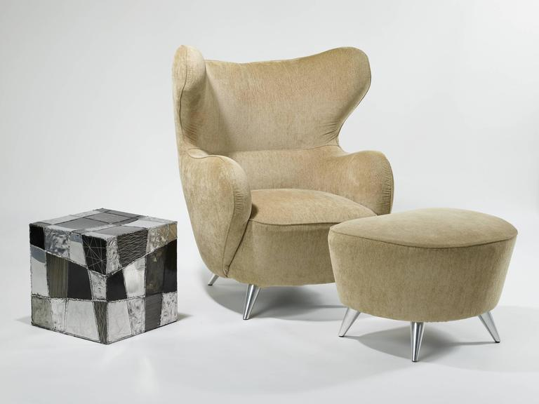 Vladimir Kagan Wing Chair and Ottoman 7