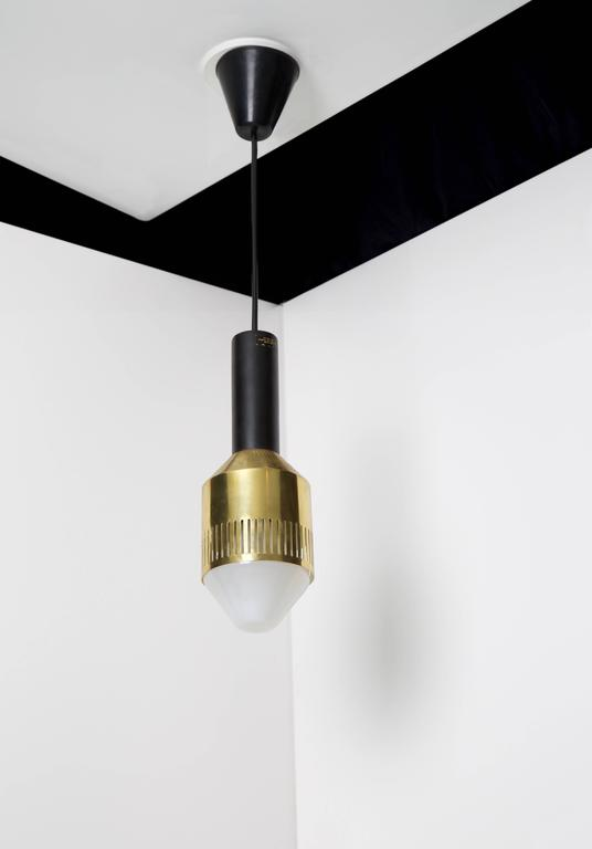 Scandinavian Modern Tapio Wirkkala, Rare Ceiling Lamp, Idman Oy, Finland, 1959 For Sale