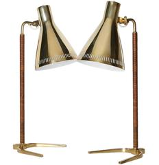 Pair of Paavo Tynell Desk Lamps, Model 9224, 1940s - 1950s